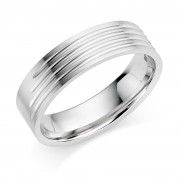 Platinum 6mm Rosetta wedding ring