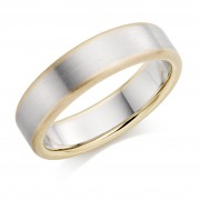 Platinum & 18ct red gold 6mm Leonora wedding ring