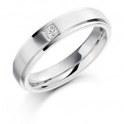 Platinum 5mm Rufina diamond wedding ring 0.16cts