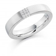 Platinum 4.5mm Eloisa diamond wedding ring 0.08cts