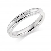 Platinum 3.5mm Angelia diamond wedding ring 0.05cts