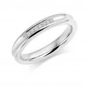 Platinum 3.5mm Angelia diamond wedding ring 0.05cts
