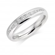 Platinum 4mm Fabiola diamond wedding ring 0.28cts