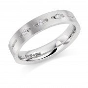 Platinum 4mm Donya diamond wedding ring 0.06cts