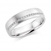 Platinum 5mm Aida diamond wedding ring 0.10cts