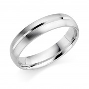 Platinum 5mm Genevra wedding ring