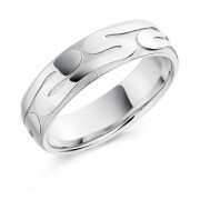 Platinum 6mm Mona wedding ring