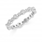 Platinum Rosa round cut diamond full eternity ring 0.86cts