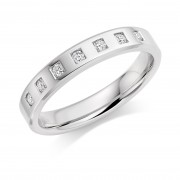 Platinum 3.5mm Aletta diamond wedding ring 0.14cts