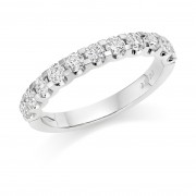Platinum Sabrina round cut diamond true half eternity ring 0.83cts