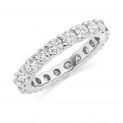 Platinum Claudina round cut diamond full eternity ring 2.20cts
