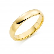 18ct yellow gold 4mm Oxford wedding ring