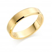 18ct yellow gold brushed finish 5mm New Windsor wedding ring