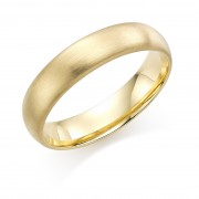 18ct yellow gold brushed finish 5mm Cambridge wedding ring.