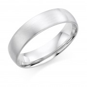 Platinum brushed finish 6mm Cambridge wedding ring