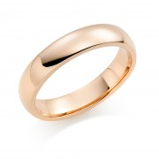 18ct red gold 5mm Oxford wedding ring