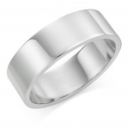 Platinum 7mm Windsor wedding ring