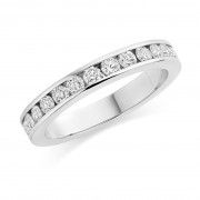Platinum Alexandra round cut diamond full eternity ring 1.20cts