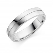Platinum 5mm Ysabelle wedding ring