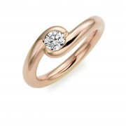 18ct rose gold Embrace round cut diamond ring