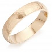 18ct red gold 5mm Cotswold hammered finish court shaped wedding ring