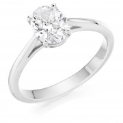 Platinum Massima oval cut solitaire ring 0.51cts