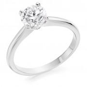 Platinum Lia round cut diamond solitaire ring 0.70cts