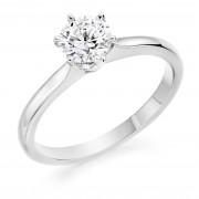 Platinum Vittoria round cut diamond solitaire ring 0.50cts