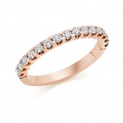 18ct rose gold Sabrina round cut diamond true half eternity ring 0.45cts