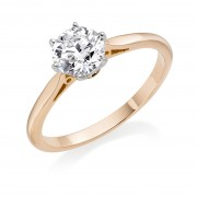 18ct rose gold Serafina round cut diamond solitaire ring 0.50cts