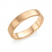 18ct red gold brushed finish 5mm Eton wedding ring.