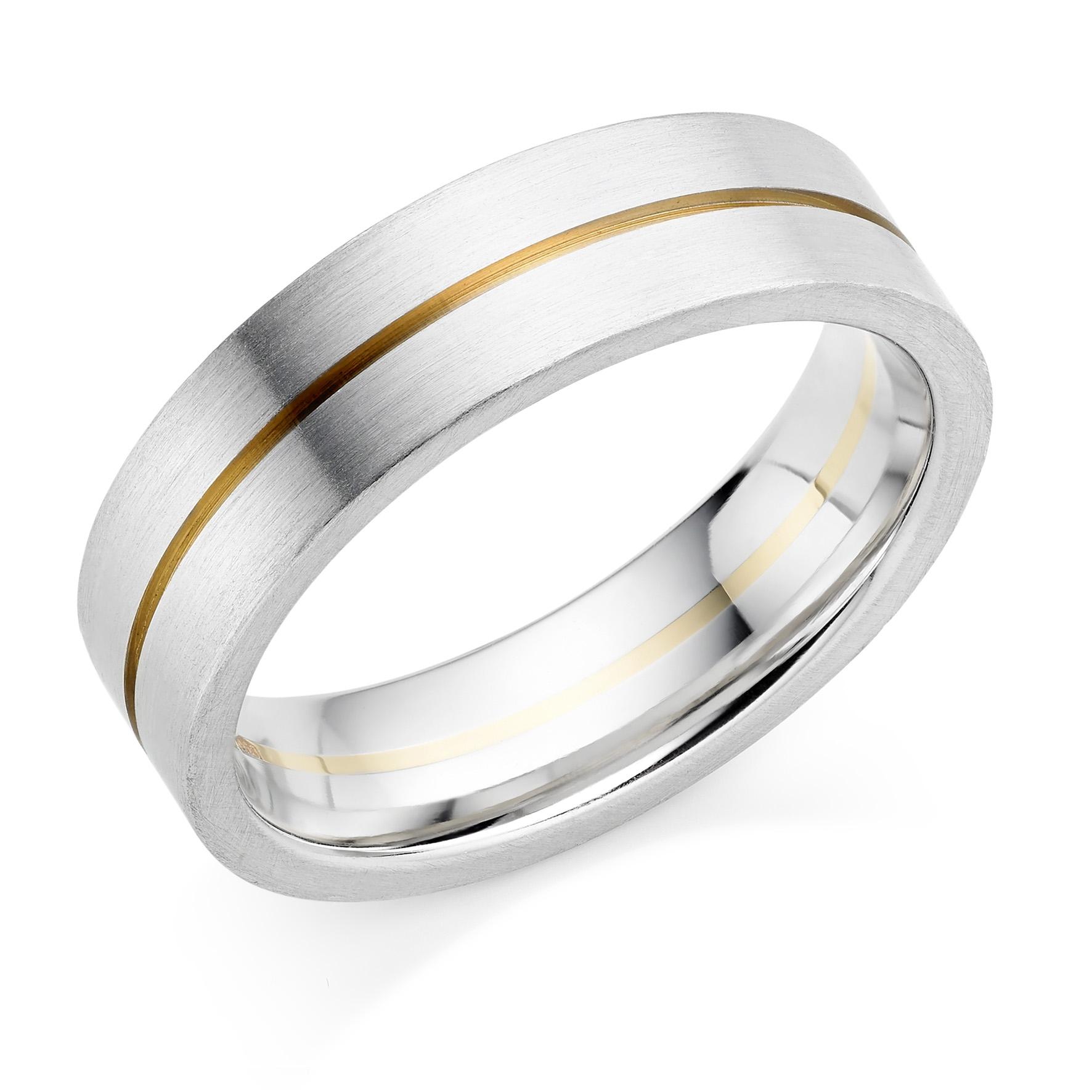 Wedding Rings in Hatton Garden - Two-tone