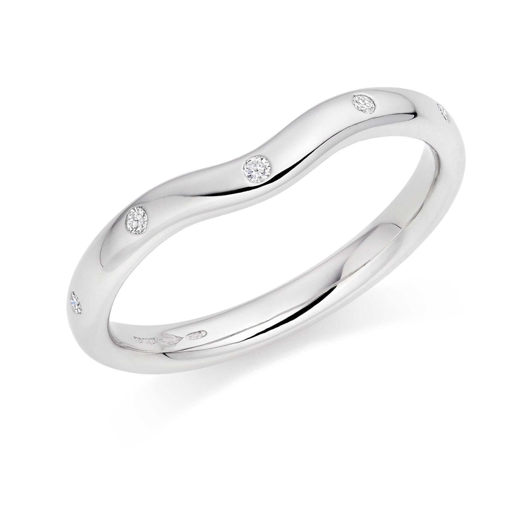 Contoured Wedding Rings in Hatton Garden
