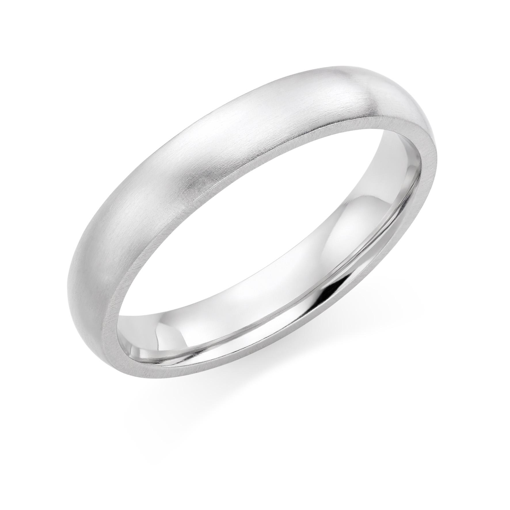 Brushed Wedding Rings in Hatton Garden