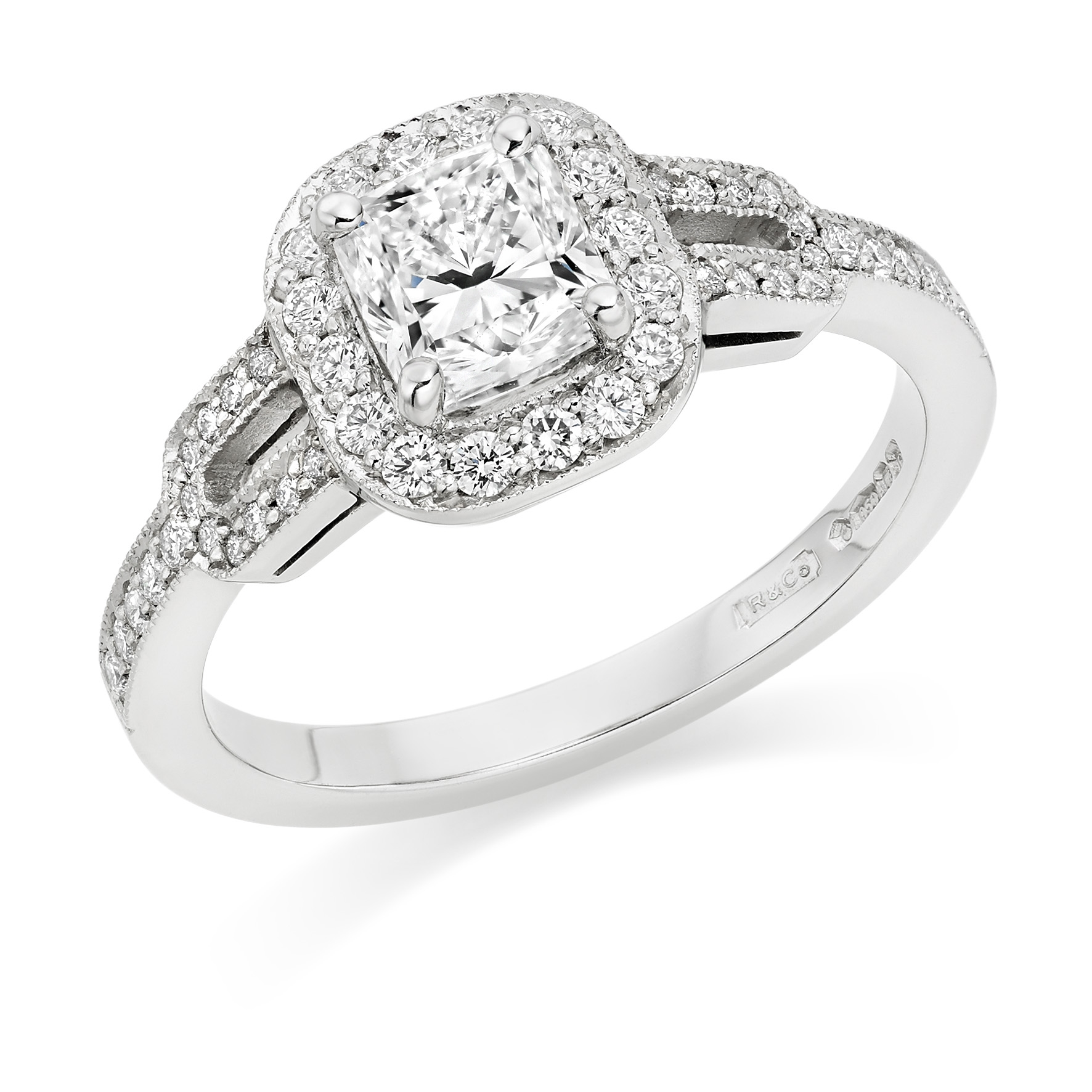 Cushion Cut Engagement Rings in Hatton Garden